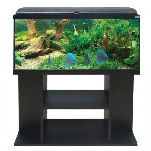 Aquarium 115 Litres Noir Avec Meuble Aquadream 100 Aquatlantis