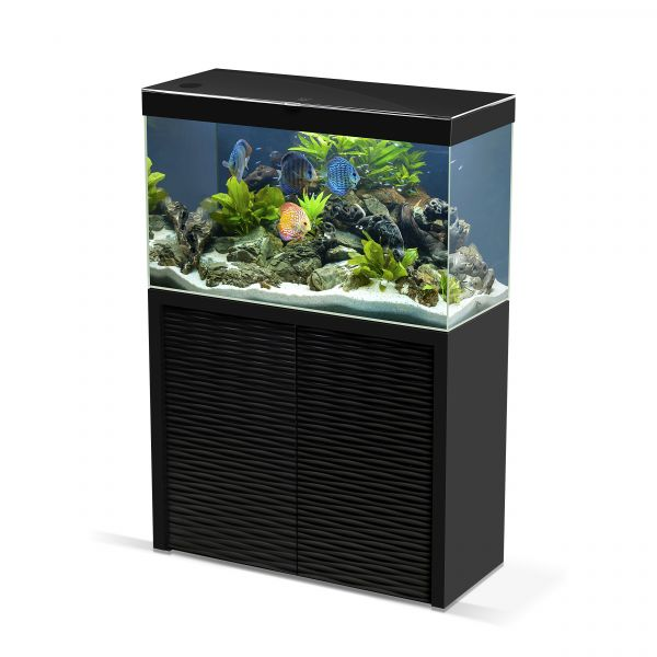 Aquarium Emotions Nature One 100 Noir Avec Meuble Ciano