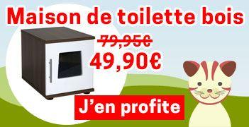Maison de toilette chat en bois wenge