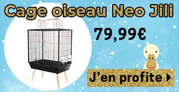 Cage pour Oiseau Neo Jili Noir H80 - Zolux