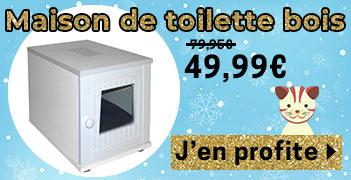 Maison de Toilette Chat Bois Blanc
