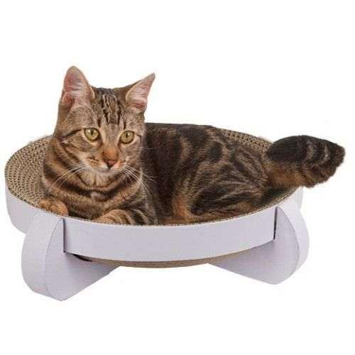 Corbeille griffoir Platinium pour chat
