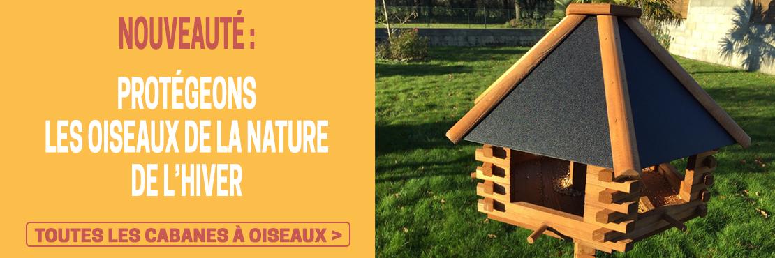 Nouveau : cabanes à oiseaux