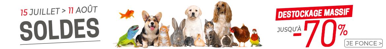 Bannière Soldes Animalerie été 2020 - Animal Valley